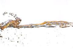 pomarańczowa nawierzchniowa woda Obrazy Stock