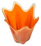 pomarańczowa odizolowana retro waza Zdjęcia Stock