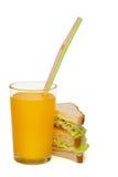 pomarańczowa sok kanapka Zdjęcia Royalty Free