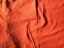 Pomarańczowa tkanina Obrazy Stock