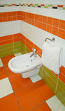 pomarańczowa toaleta Zdjęcie Royalty Free