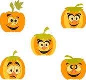Pomarańczowe bani ilustracje, kreskówek banie Obrazy Stock