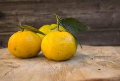 pomarańczowe smakowite mandarynki Obrazy Royalty Free