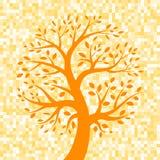 Pomarańczowego drzewa ikona na piksla tle Zdjęcia Royalty Free