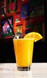 Pomarańczowego napoju koktajl zdjęcia royalty free