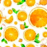 Pomarańczowi bezszwowi wzory Zdjęcie Royalty Free