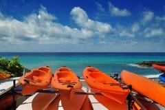 Pomarańczowi kajaki Fotografia Stock