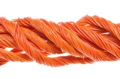 Pomarańczowi komputerów kable Zdjęcia Royalty Free