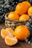 Pomarańczowi mandarines Zdjęcie Royalty Free