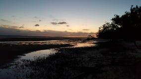 pomarańczowi niebo zmroku tereny Zdjęcie Stock