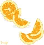 Pomarańczowi plasterki, kolekcja ilustracje Fotografia Stock