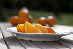 pomarańczowi segmenty Zdjęcia Royalty Free