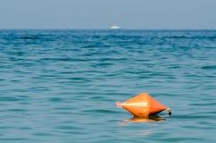Pomarańczowy boja W oceanie Obraz Royalty Free