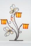 Pomarańczowy candlestick Zdjęcie Royalty Free