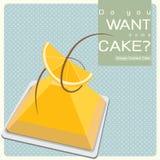 Pomarańczowy custard tort Zdjęcie Royalty Free