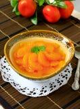 Pomarańczowy deser Zdjęcia Royalty Free