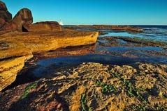 Pomarańczowy falezy seascape Fotografia Royalty Free