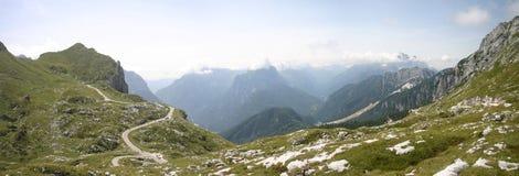 pomarańczowy górski filtra panorama niebios Obrazy Stock