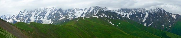 pomarańczowy górski filtra panorama niebios Zdjęcia Royalty Free