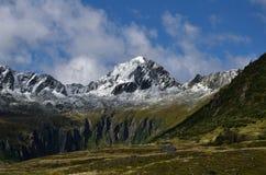 pomarańczowy górski filtra panorama niebios Zdjęcie Stock