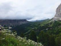 pomarańczowy górski filtra panorama niebios Fotografia Stock