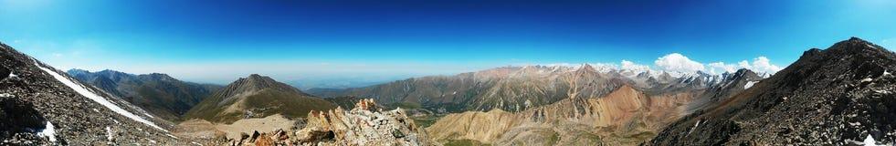 pomarańczowy górski filtra panorama niebios Zdjęcie Royalty Free