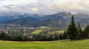 pomarańczowy górski filtra panorama niebios Obraz Royalty Free