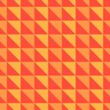Pomarańczowy i czerwony abstrakta wzór z trójbokami Zdjęcia Royalty Free