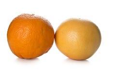 Pomarańczowy i grapefruitowy Obrazy Royalty Free