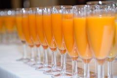 Pomarańczowy i owocowy sok Fotografia Royalty Free