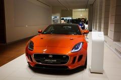 Pomarańczowy Jaguar F typ Zdjęcie Royalty Free
