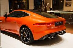 Pomarańczowy Jaguar F typ Zdjęcia Royalty Free