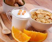 pomarańczowy jogurt Fotografia Stock