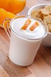 pomarańczowy jogurt Obraz Stock