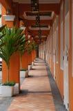 Pomarańczowy korytarz w Chinatown obrazy royalty free