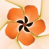 Pomarańczowy kwiatu fractal royalty ilustracja