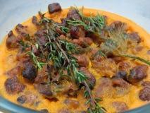 Pomarańczowy larde z crunchy wieprzowina chrobotami Obraz Stock
