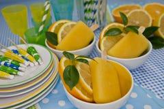 Pomarańczowy Lody Zdjęcie Royalty Free