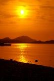 pomarańczowy morze Zdjęcie Royalty Free