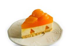 Pomarańczowy mousse tort Zdjęcia Royalty Free