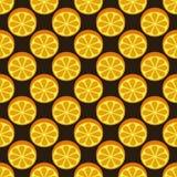 Pomarańczowy owocowy bezszwowy jaskrawy wzór Fotografia Stock