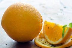 pomarańczowy plasterek Zdjęcia Royalty Free