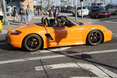 Pomarańczowy Porsche Obraz Royalty Free