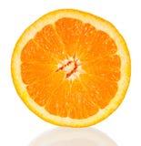 Pomarańczowy przekrój poprzeczny Zdjęcia Royalty Free