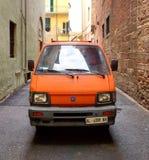 pomarańczowy samochód dostawczy Obraz Stock