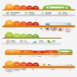 Pomarańczowy strona internetowa biznesu set Obraz Stock