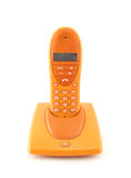 pomarańczowy telefon Obrazy Stock