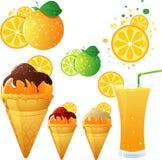 pomarańczowy temat Fotografia Stock
