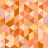 Pomarańczowy trójboka wzór Obrazy Royalty Free