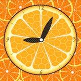 pomarańczowy zegarek Obrazy Royalty Free